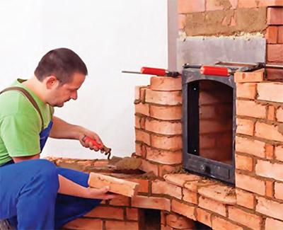 Клей для каминов и печей имеет высокую термостойкость и прочность
